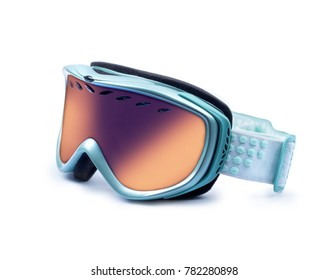 Ski mask closeup isolated on white background
