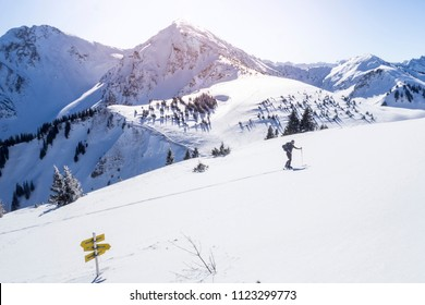 Ski mountaineering at the Alps