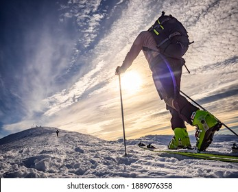 Ski mountaineering in the italian alps