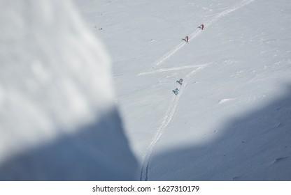 Ski mountaineers in Western Tatras, Slovakia
