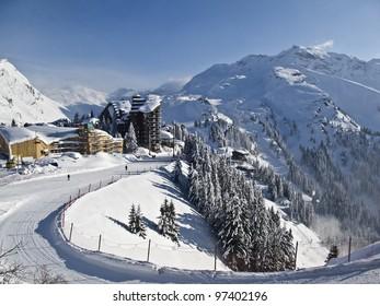 ski resort of Avoriaz in France,