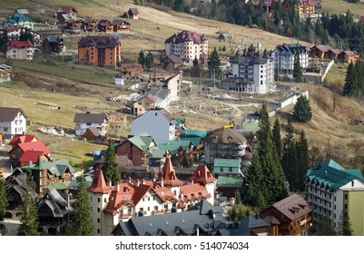ski resort Bukovel in late autumn