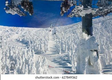 Ski Resort in Zao Mountain, Yamagata, Japan