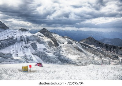 Ski resorts Hintertux Glacier of  2.660 metres