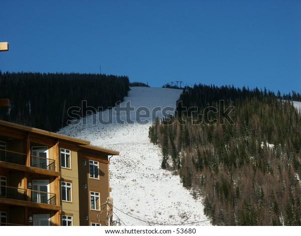 Ski run and condo