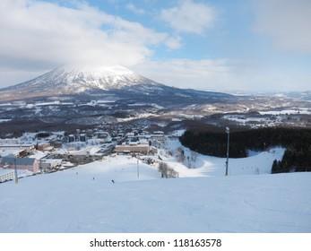 Ski runs in Hokkaido, Japan (Hirafu, Niseko and Mount Yotei)
