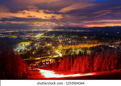 Ski Slope Torchlight Parade