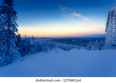 Ski slope view from Sotkamo, Finland.