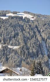 Ski slopes at Wagrain in Austria