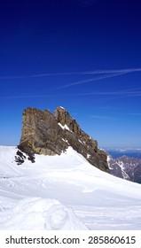 ski snow mountains park Titlis vertical, Engelberg, Switzerland