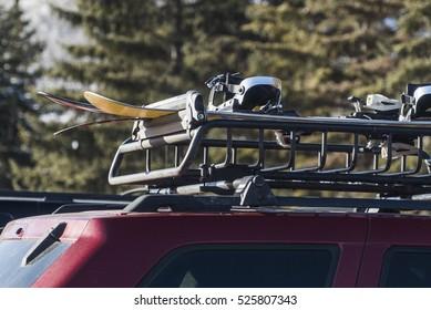 Ski and Snowboard on Vehicle Rack