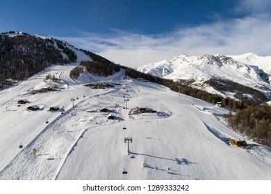 Ski station in the Alps