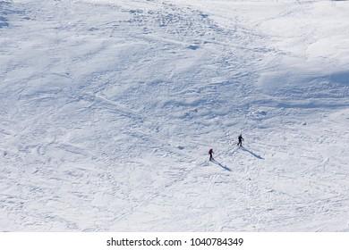 ski tourer on slope