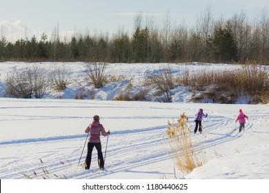 ski trip in the winter