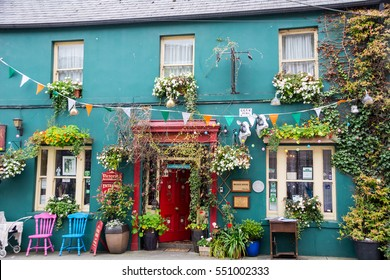 Skibbereen,Ireland - August 11, 2015: Small family Hotel in Skibbereen, Ireland
