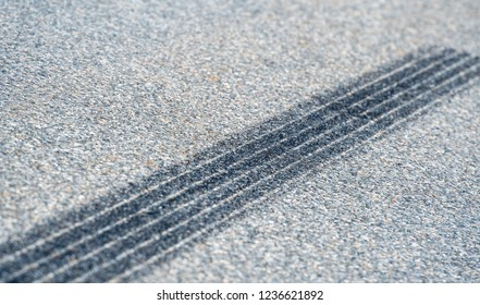 Skid marks on asphalt