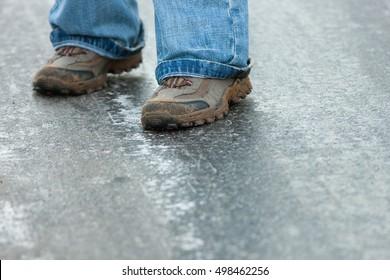 skidding on ice