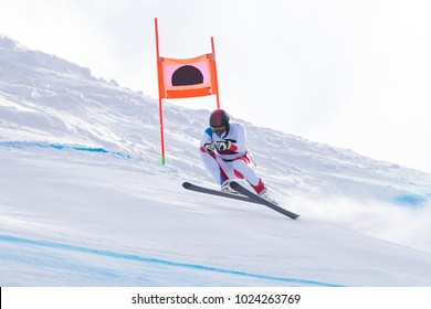 Skier in a competition