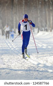 skier cross-country run race