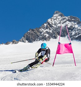 skier in the race of super g