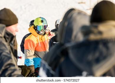 Skier or snowboarder...