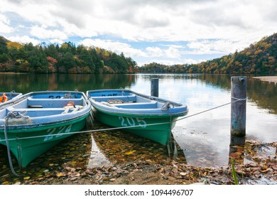 skiff boats, nature and blue sky