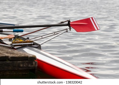 Skiff at the landing stage