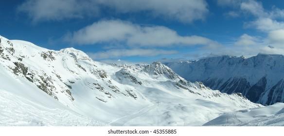 Skiing in the Alps, Switzerland