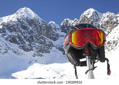 Skiing in High Tatras mountains, Slovakia