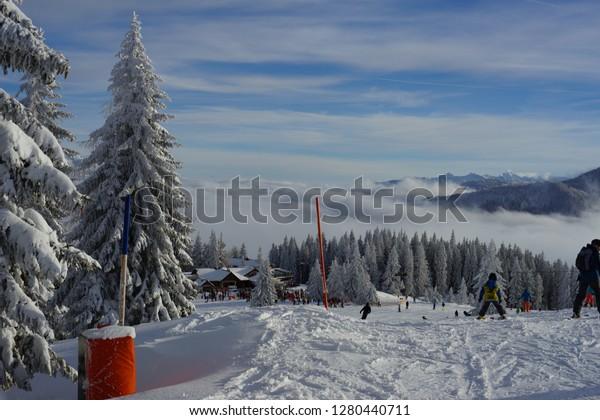 Skiing Landscape Mountainscape