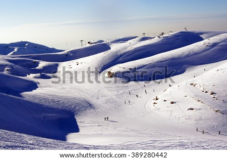 Skiing in Lebanon, Faraya summits