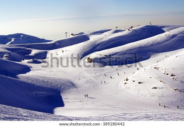 Skiing in Lebanon, Faraya summits