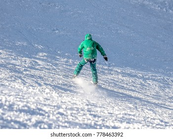Skiing from the mountain