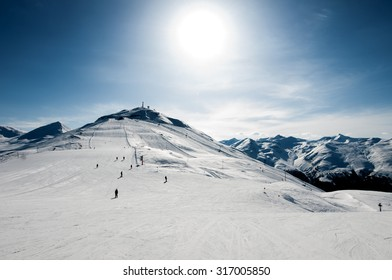 skiing resort in Alps. Livigno, Italy
