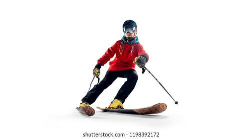 Skiing sport isolated