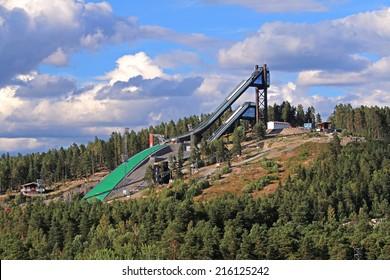 Skijump at Lugnet. Falun, Sweden