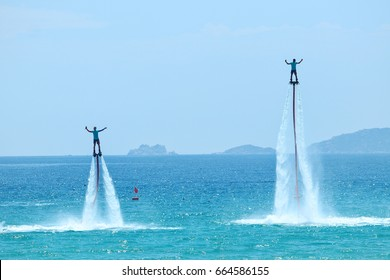 skill flyboard on the sea