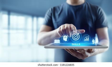 Kompetenzbewusstsein Business Internet-Technologie Konzept.
