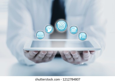 Skill Knowledge Ability Business Internet technology Concept.