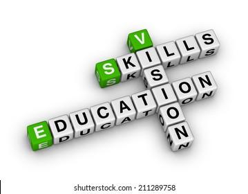 skill vision education (green-white crossword series)