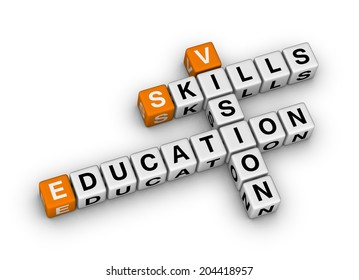 skill vision education (orange-white crossword puzzles series)