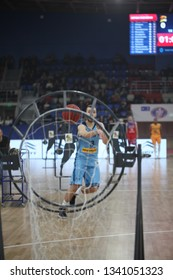 """Skills Challenge Highlights at   UKRAINE SUPERLEAGUE ALL STAR GAME, Match of the Stars - 2019, 26/01/2019, Palace of Sports """"Youth"""", Zaporozhye, Ukraine"""
