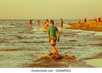 Skimboard Skim Boy Water Sport