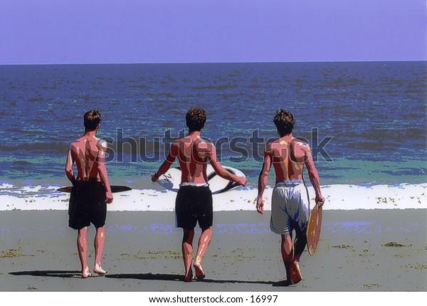 skim-boarders