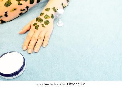 Skin care in the spring, after winter beriberi, relieves dry, stale rough skin, with avocado and cream