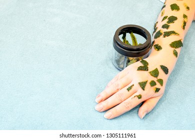 Skin care in the spring, after winter beriberi, relieves dry, stale rough skin, with avocado