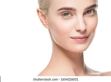 Skin face woman fesh clean skin beauty female model portrait