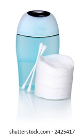 skincare - facial toner with cotton pads and swabs (with relfexion)