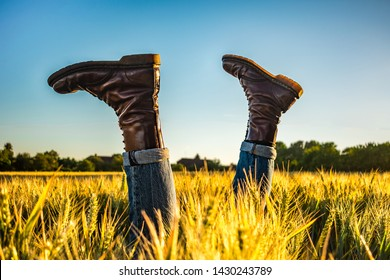 A Skinheads Doc Marten Boots in The Sunny Countryside