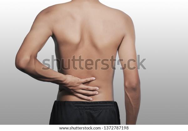 Skinny People On Isolate Floor Sick Stock Photo Edit Now 1372787198